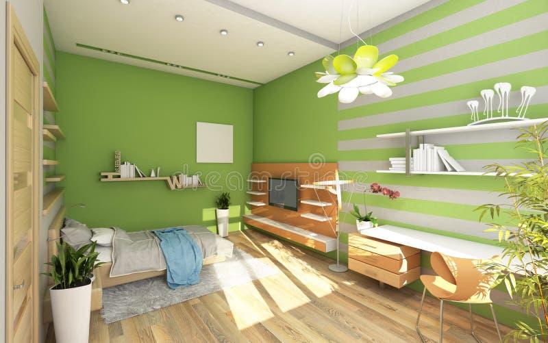 Download Teen Pokój Z Barwioną ścianą Ilustracji - Ilustracja złożonej z kwiecisty, rówieśnik: 28960400
