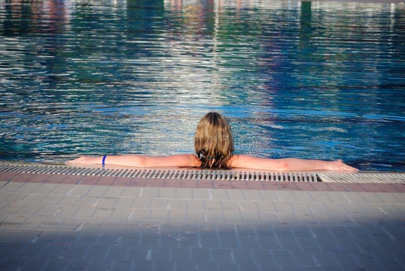 Teen in pool royalty free stock photos