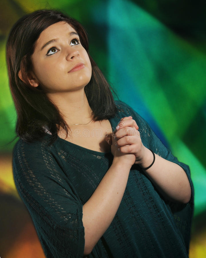 Download Teen Prayer stock image. Image of religious, teenager - 25637801