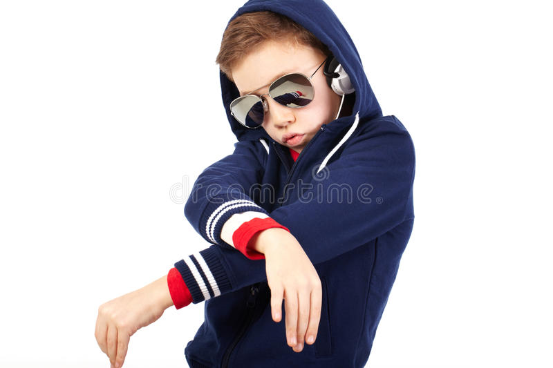 Teen rapper stock photo