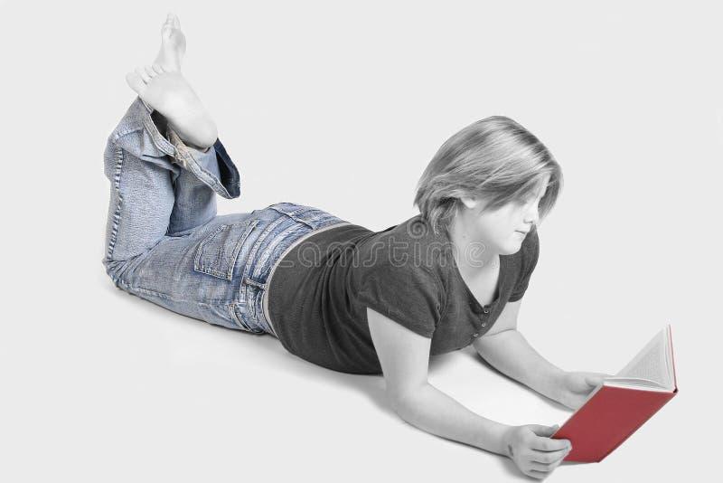 Teen reading stock photos