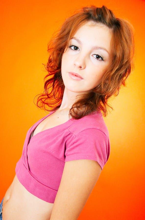 teen redhead 5 arkivbilder