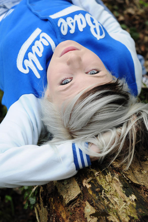 Download Teen resting on tree stock photo. Image of enjoying, attractive - 21367616