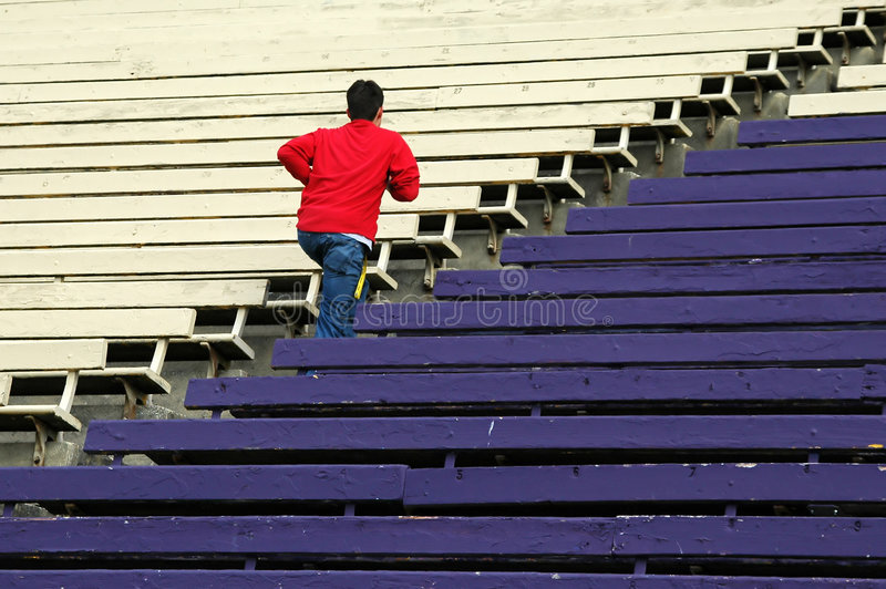Download Teen Running stock photo. Image of student, youth, bleachers - 1714540