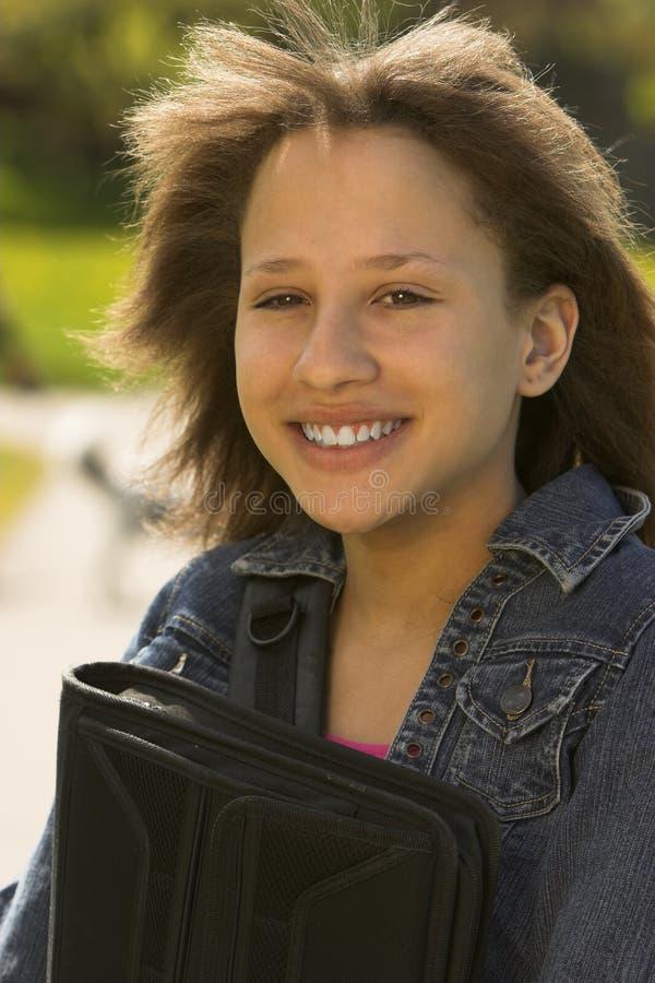 Download Teen school girl stock photo. Image of books, teen, light - 5389784