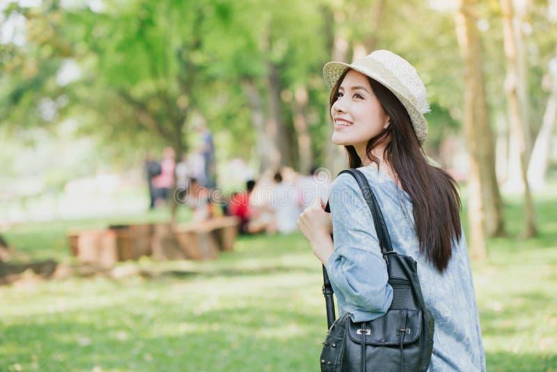 teen with shoulder bag summer walking royalty free stock images
