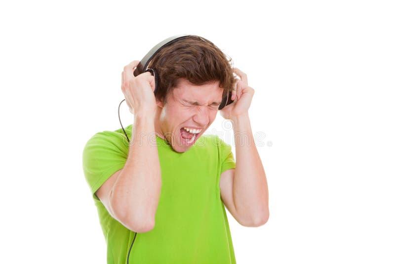 Download Teen Singing With Headphones Stock Image - Image: 29534807