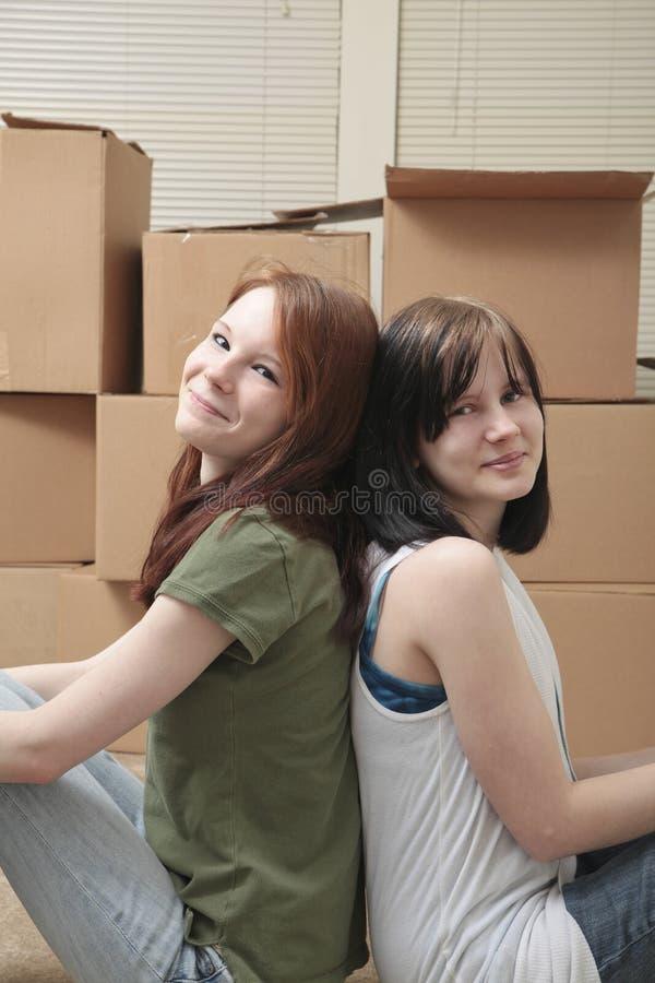Download Teen sisters moving stock image. Image of teenage, cute - 14009739