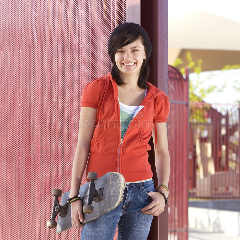 Download Teen skater girl stock image. Image of youth, culture - 5039211