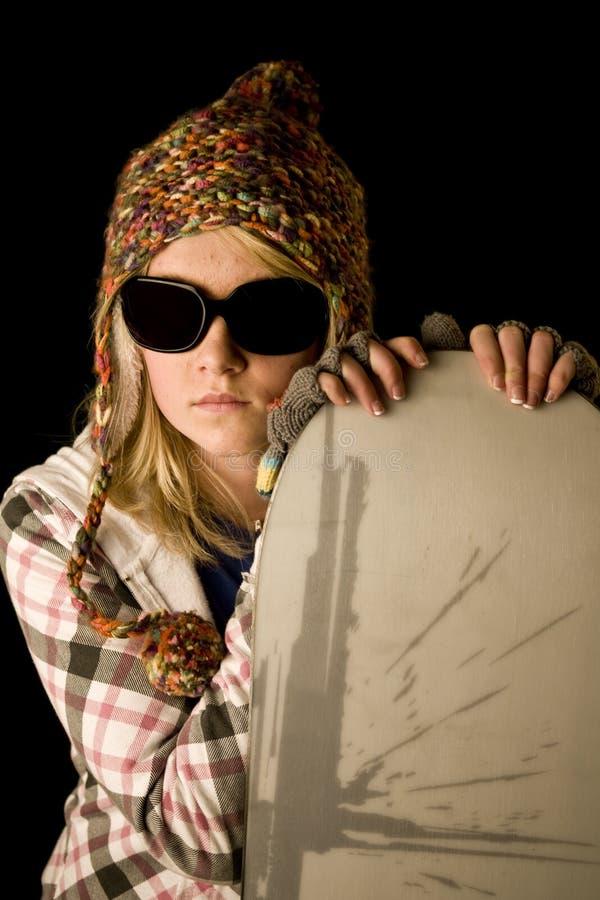 teen snowboard royaltyfri foto