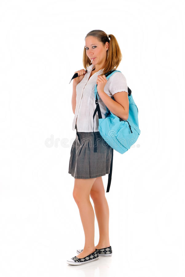 Download Teen Student Backpack Lollipop Stock Photo - Image: 10835024