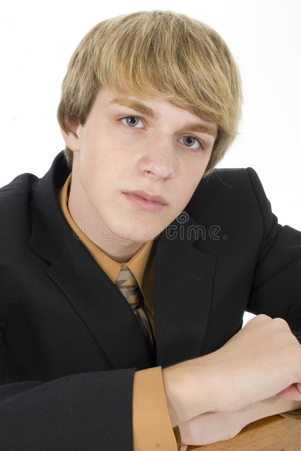 Teen in Suit royalty free stock image