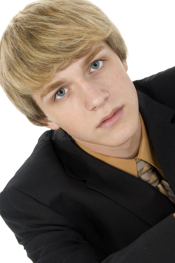 Teen in Suit royalty free stock images