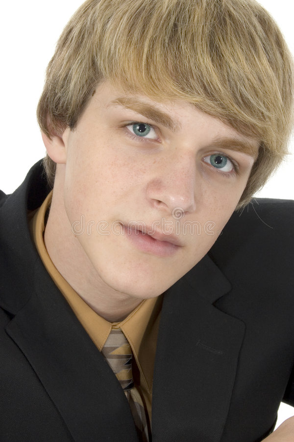 Teen in Suit royalty free stock photo