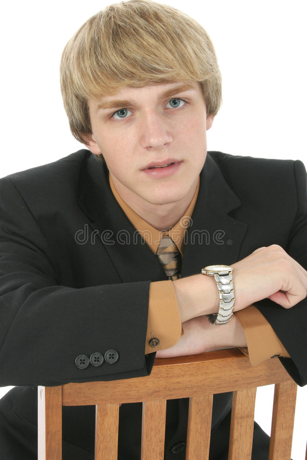 Teen in Suit royalty free stock photos
