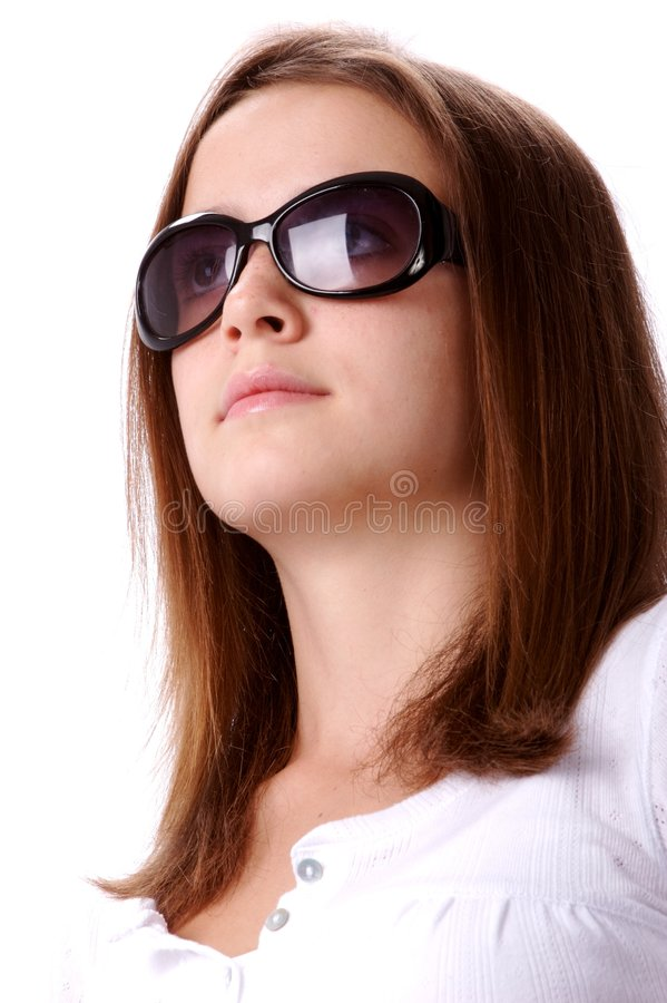 Teen in Sunglasses royalty free stock images
