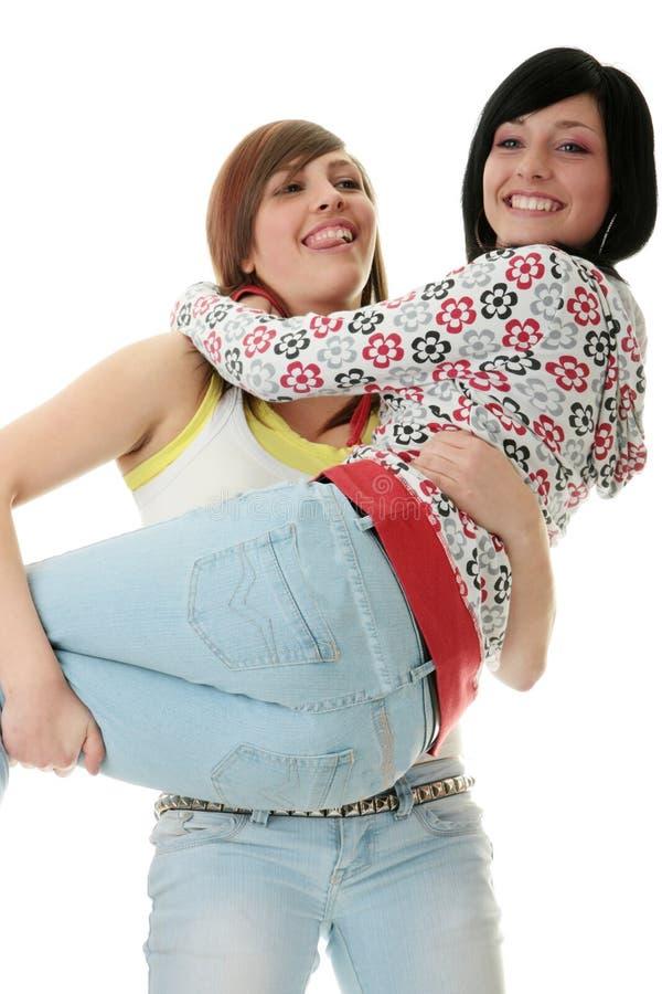 teen systrar arkivbilder