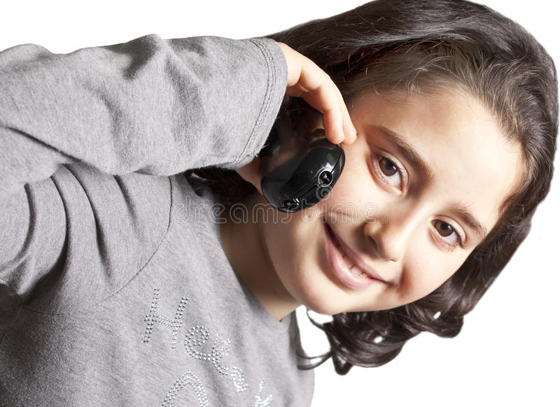 Teen Talking On The Phone Royalty Free Stock Photo