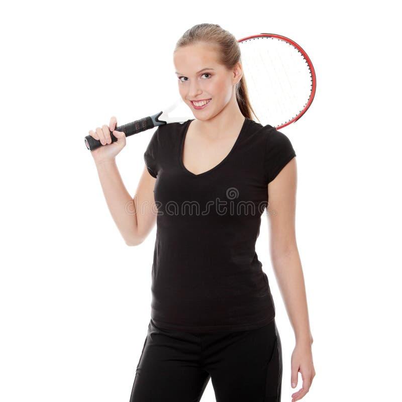 teen tennis för spelare arkivfoto