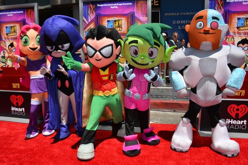 Teen Titans imagens de stock