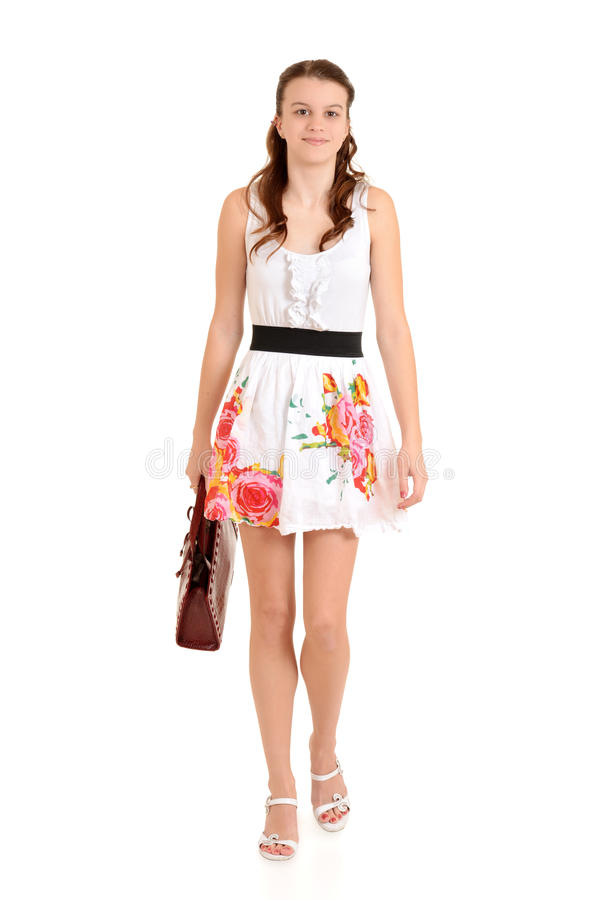 Download Teen Walking Carrying Purse Stock Image - Image: 28517595