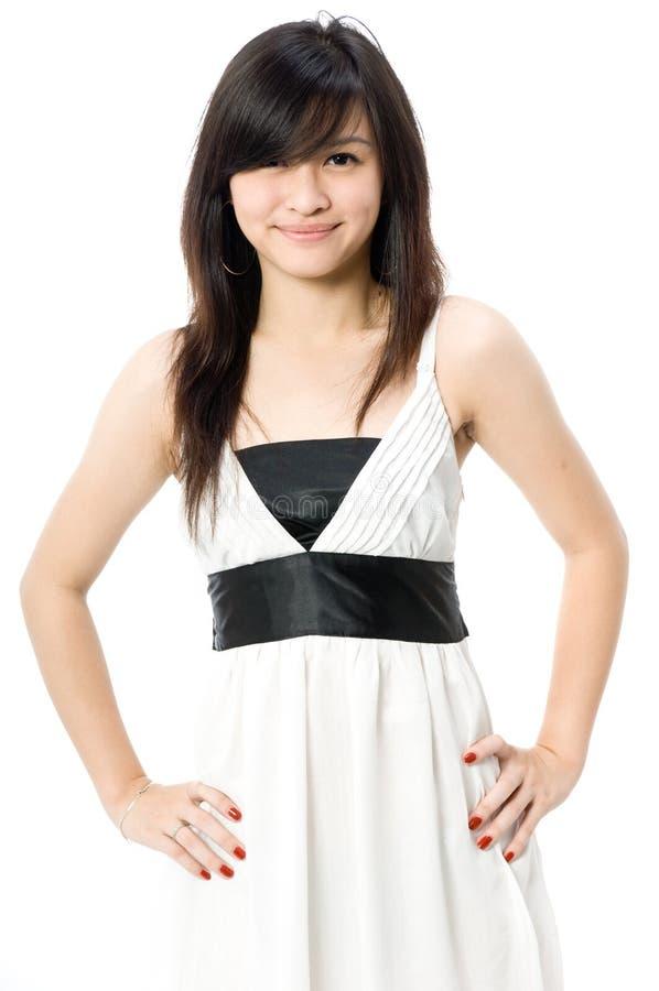 Teen model white dress accept. interesting