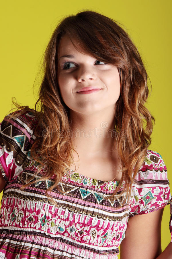 Teen woman royalty free stock images