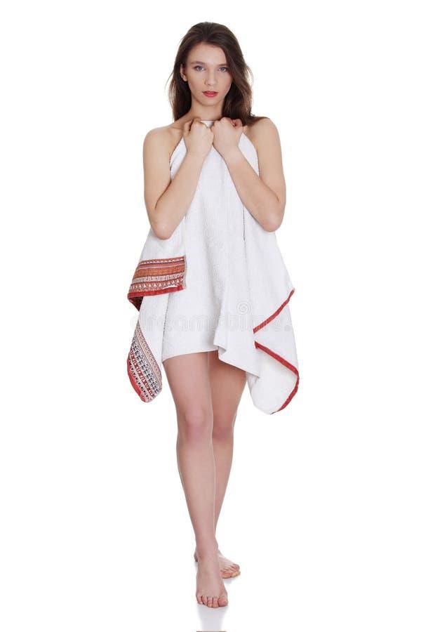 Teen girl in towel-5365