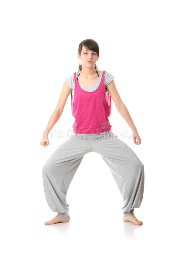 Download Teen woman training yoga stock photo. Image of exercise - 13169346