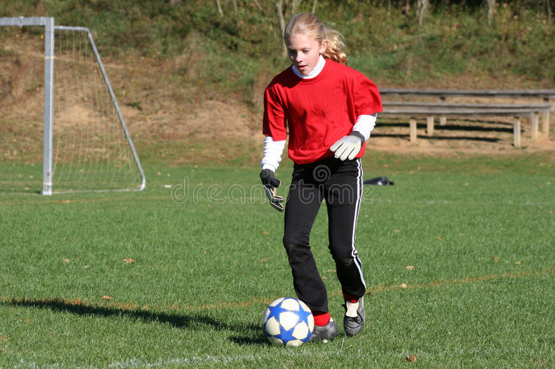 Download Teen Youth Soccer Player Kicking Ball (2) Stock Image - Image: 4384833