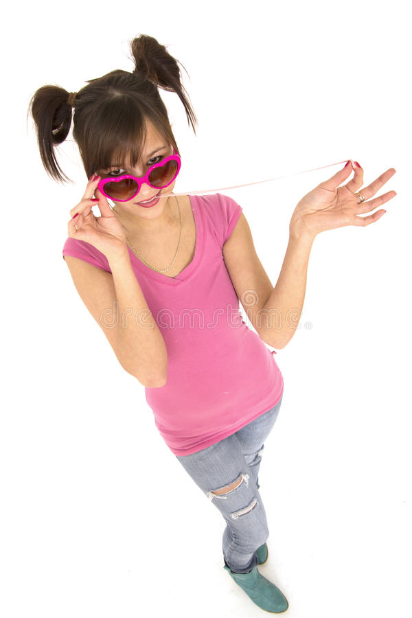 Download Teenaer and chewing gum stock photo. Image of glasses - 21842036