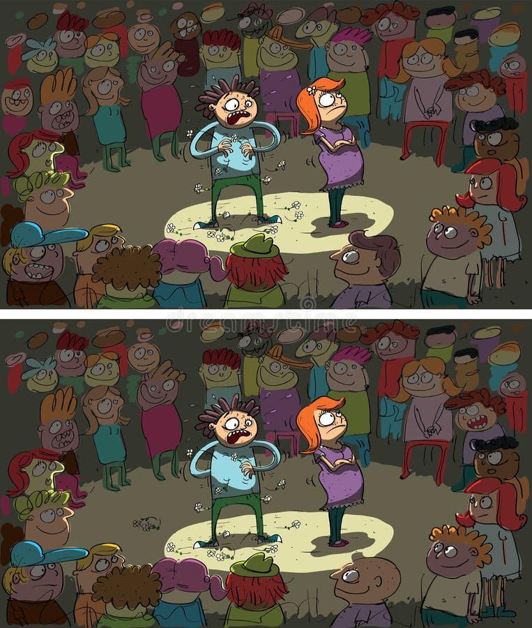 Download Teenage Awkward Flirting Differences Visual Game Stock Vector - Image: 29841948