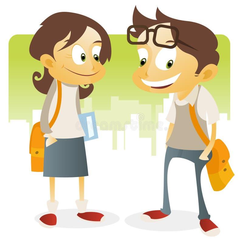 Download Teenage Back to school stock illustration. Image of schoolmates - 9809561