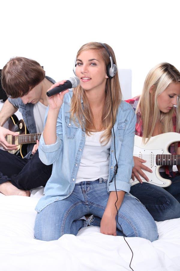 Teenage band stock photo