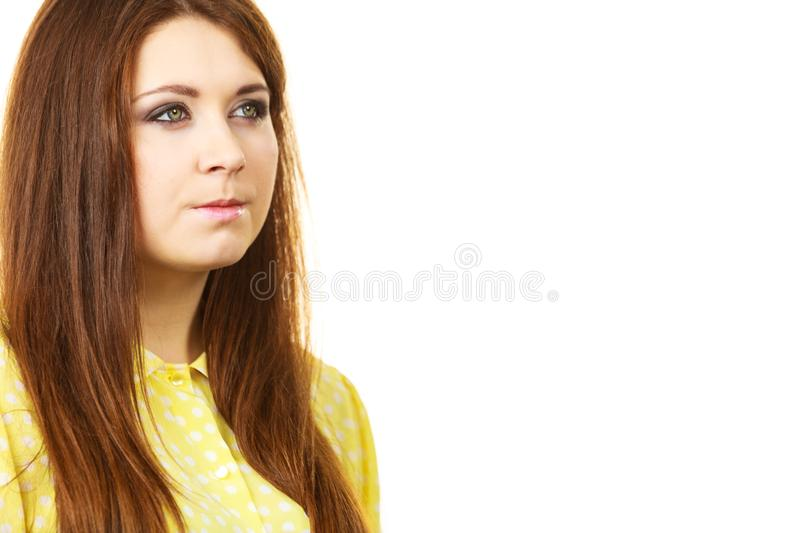 Teenage beauty being neutral stock image
