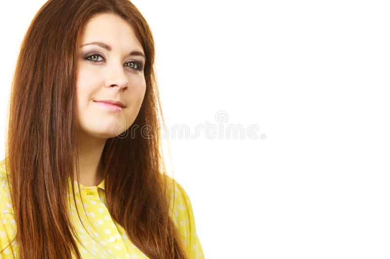 Teenage beauty being neutral royalty free stock photos