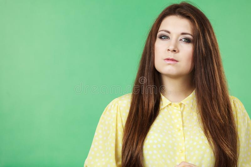 Teenage beauty being neutral stock photography