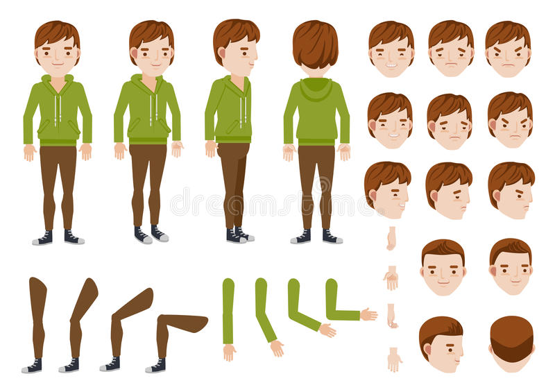 Teenage Boy royalty free illustration