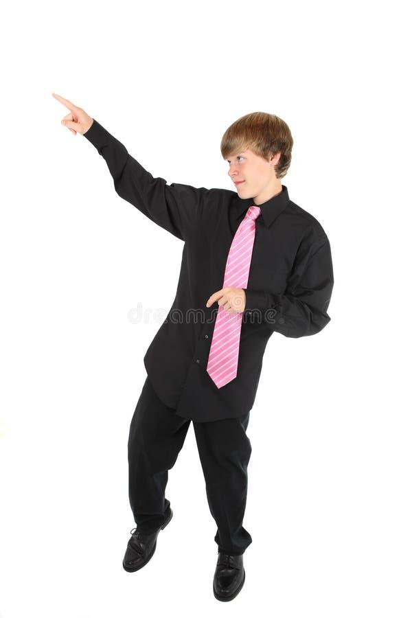Teenage boy dancing stock image