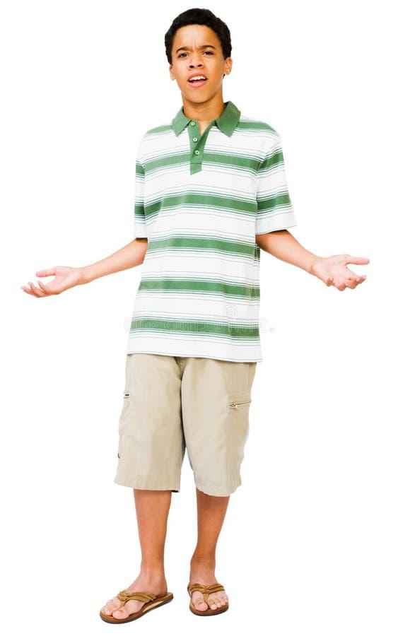 Teenage Boy Gesturing royalty free stock photo