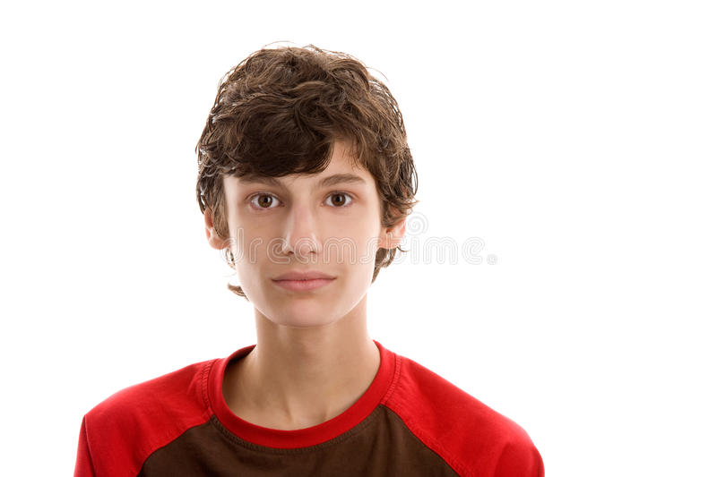 Teenage boy with gifts stock images