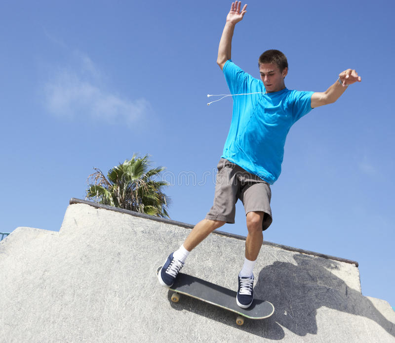Download Teenage Boy In Skateboard Park Stock Image - Image: 11503325