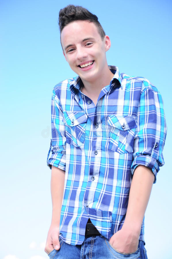 Download Teenage boy smiling stock image. Image of caucasian, happiness - 24653593