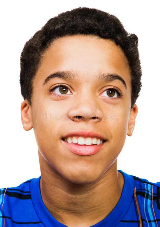 Teenage Boy Smiling stock image