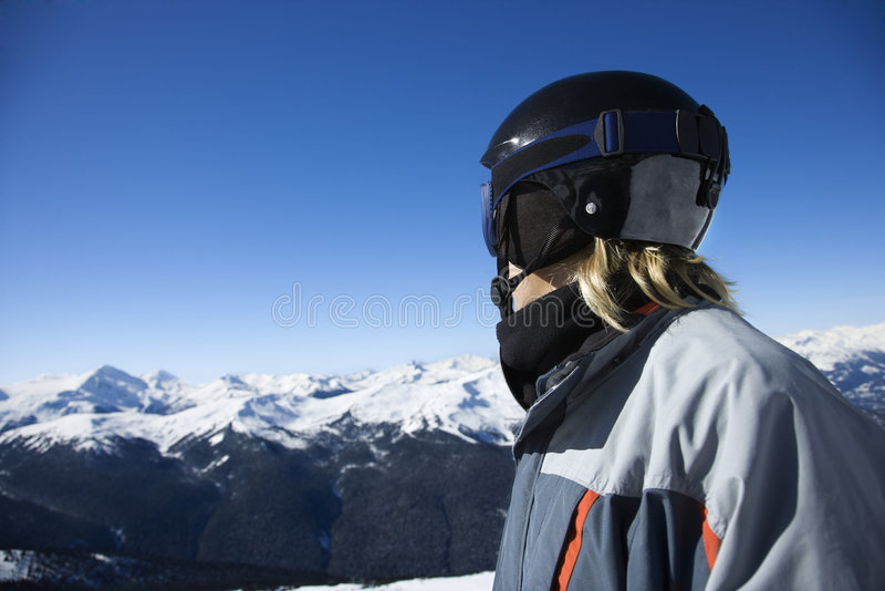 Teenage Boy Snowboarder Stock Photography