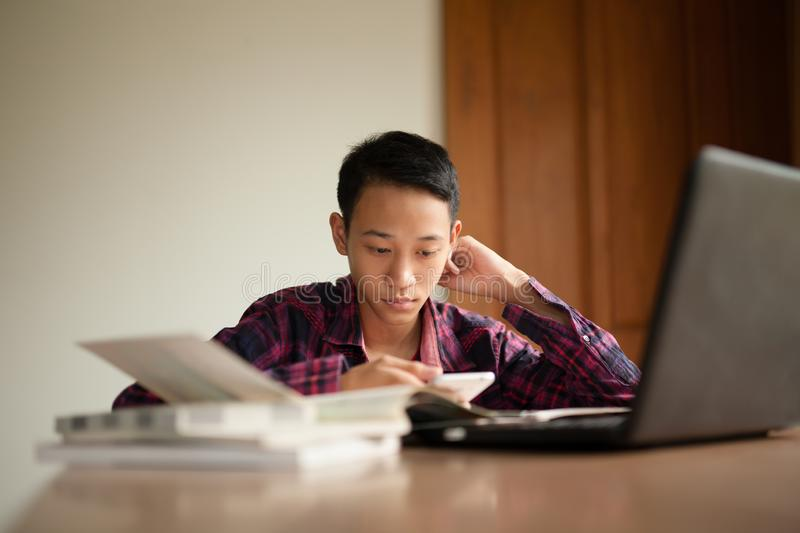 Study hard and Stress of classroom or school royalty free stock photography