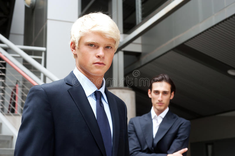 Teenage boy in suit royalty free stock photography