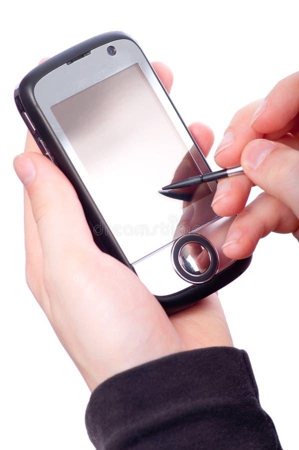 Teenage Boy Using Smart Mobile Phone Royalty Free Stock Images