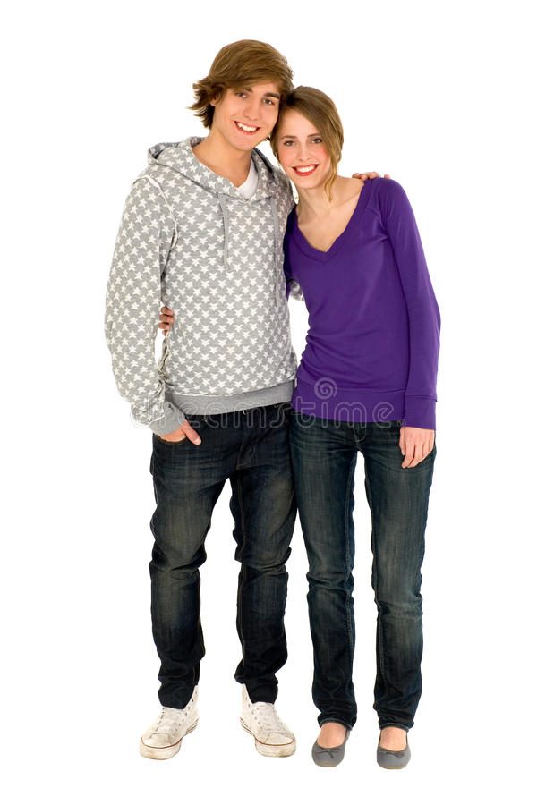 Download Teenage couple stock photo. Image of cheerful, casual - 12027338