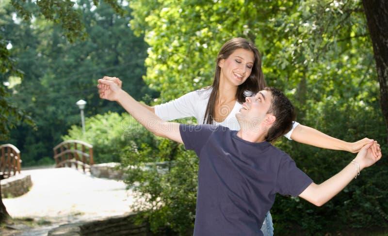 Teenage couple royalty free stock image